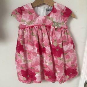 Other - Pink Floral Dress with diaper cover NWT